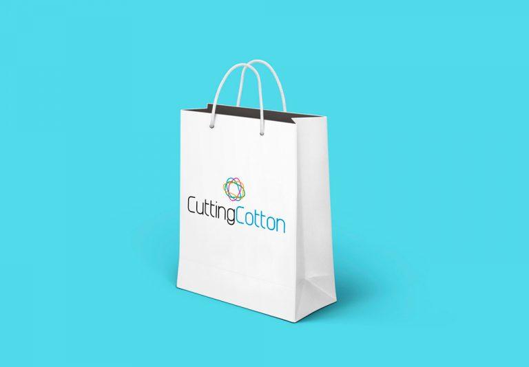 Branding Cutting Cotton bolsa blanca