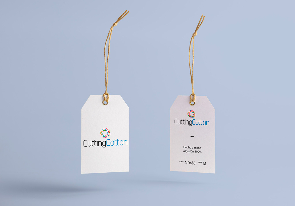Branding Cutting Cotton etiquetas
