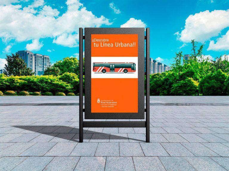 Publicidad exterior Rivas Línea Urbana
