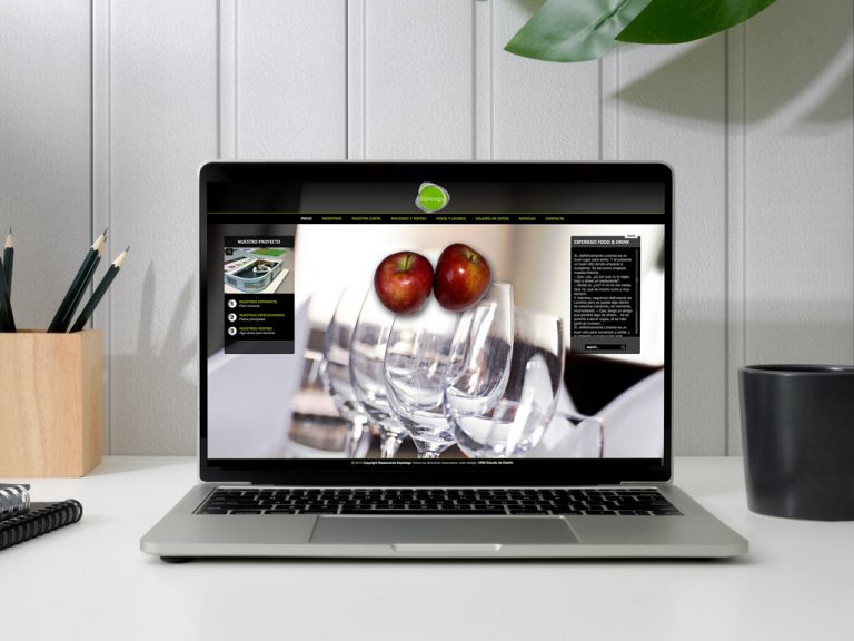 Web Esperiego Food&Drink MacBook
