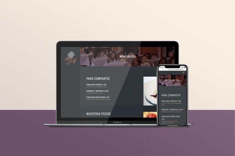 Web carta on line restaurante responsive